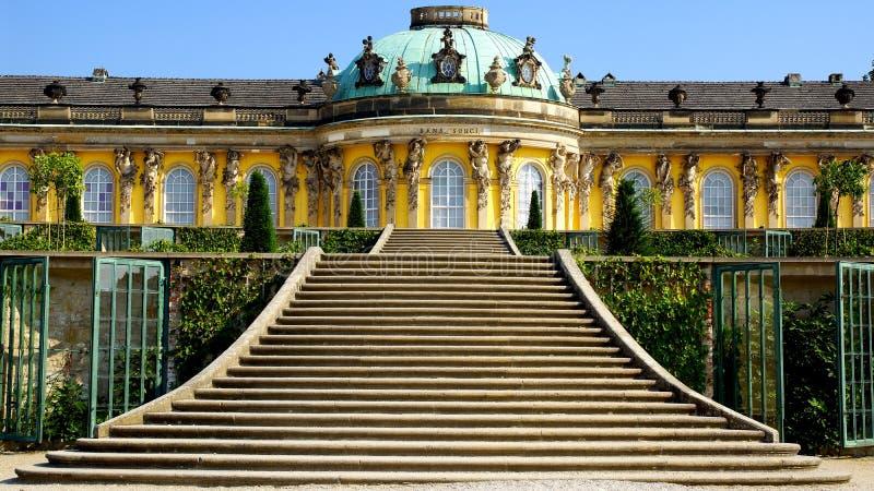 W Potsdam Sanssouci pałac, Niemcy. obraz stock