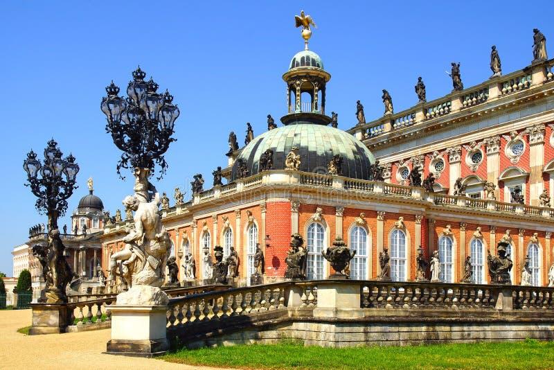 W Potsdam Sanssouci pałac, Niemcy. obrazy royalty free