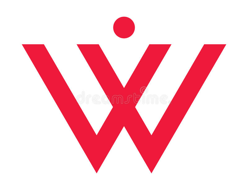 W pour la femme image stock