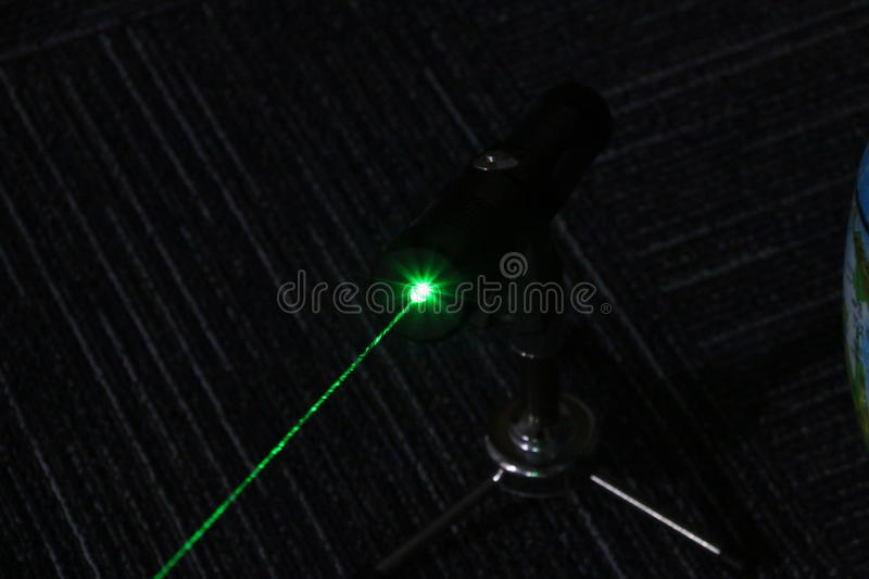 1W powerful green laser pointer royalty free stock image