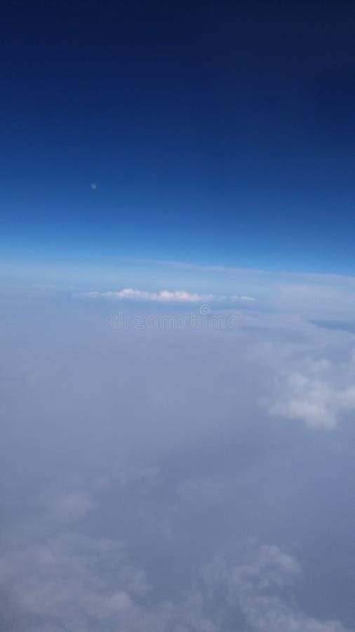 W powietrzu samolotowej przejażdżki pogodny niebo fotografia royalty free