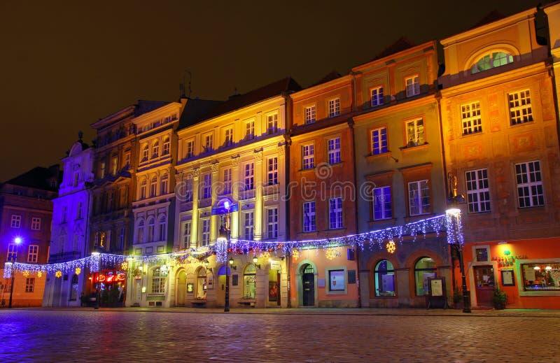 W Poznan Rynku stary Kwadrat, Polska zdjęcia stock