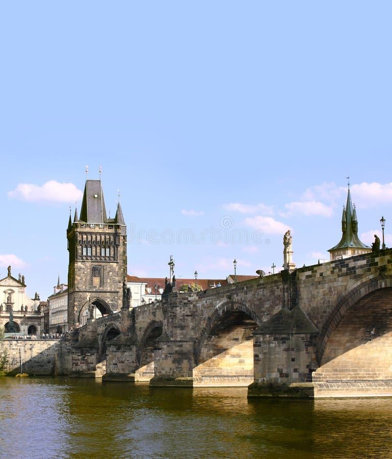 W Praga Charles most zdjęcia stock