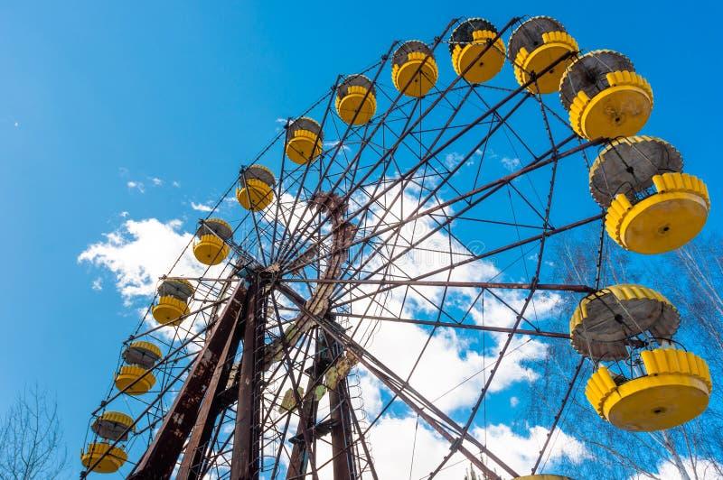 W Pripyat Ferris Koło zdjęcie stock