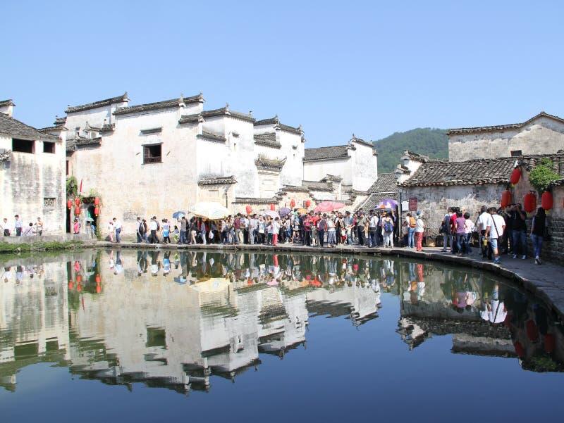 W prowincja anhui, Porcelanowa Hongcun wioska zdjęcie stock