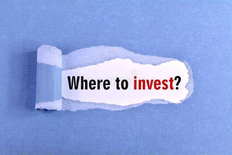 w przypadku inwestycji obraz stock