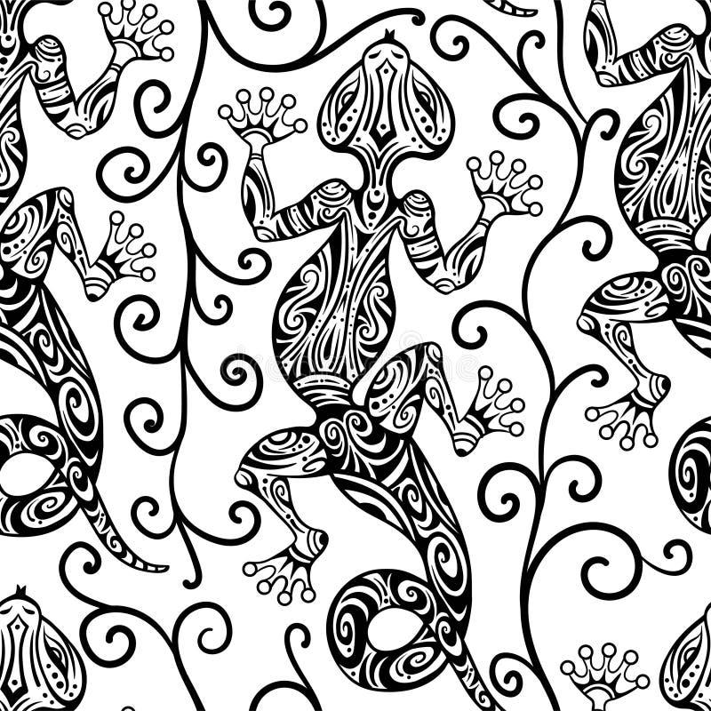 W przypadku tekstyliów i barwników można stosować inwentaryzację wektorową bez szwów, z wykorzystaniem jaszczurek i linii o wzora royalty ilustracja