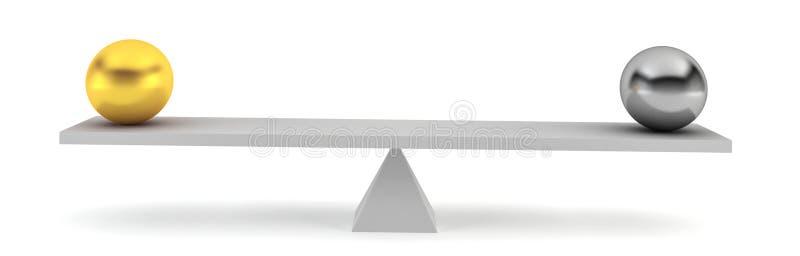 W równowadze dwa sfery ilustracji