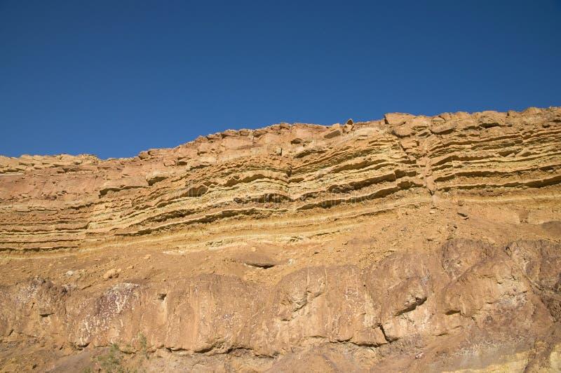 W Ramon Kraterze rockowe warstwy obraz stock