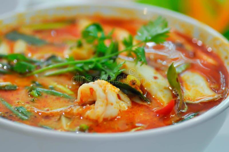 W?rziges Suppe oder Tom-yum kung lizenzfreie stockfotos