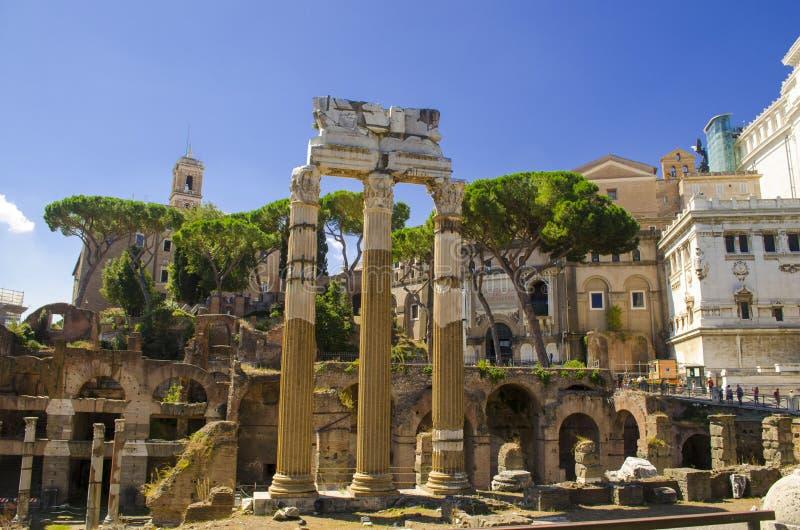 W Rzym cesarski Forum obrazy stock