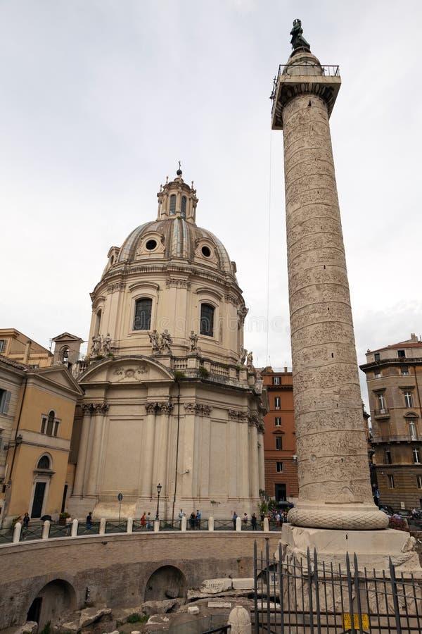 W Rzym Trajan's Kolumna, Włochy obrazy stock