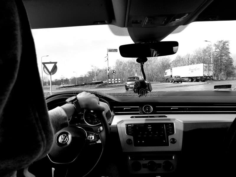 W samochodzie zdjęcia stock