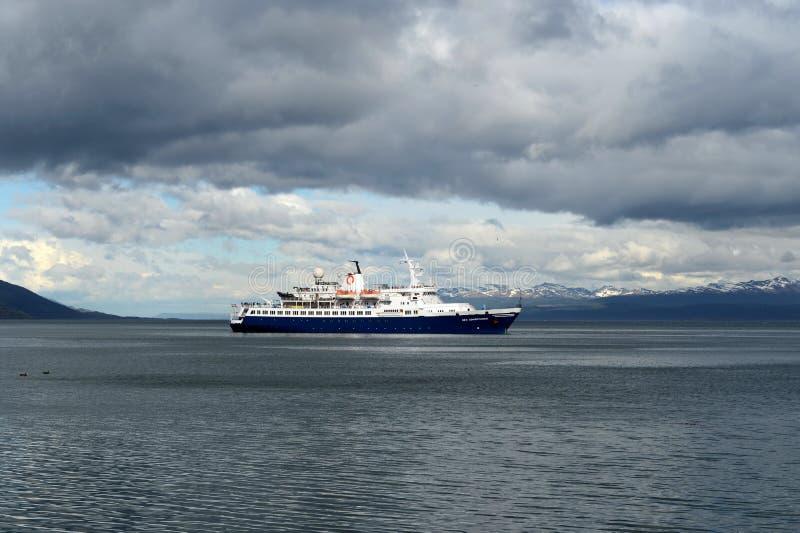 W schronieniu port Ushuaia zdjęcie stock