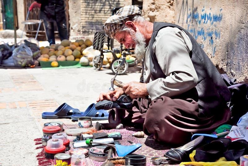 W Shiraz uliczny życie, Iran zdjęcie royalty free