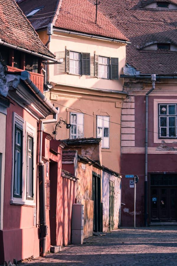 Download W Sibiu Starzy Budynki, Rumunia Zdjęcie Stock - Obraz: 27221390