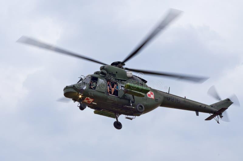 W-3 Sokol-helikopter op Radom Airshow, Polen stock fotografie