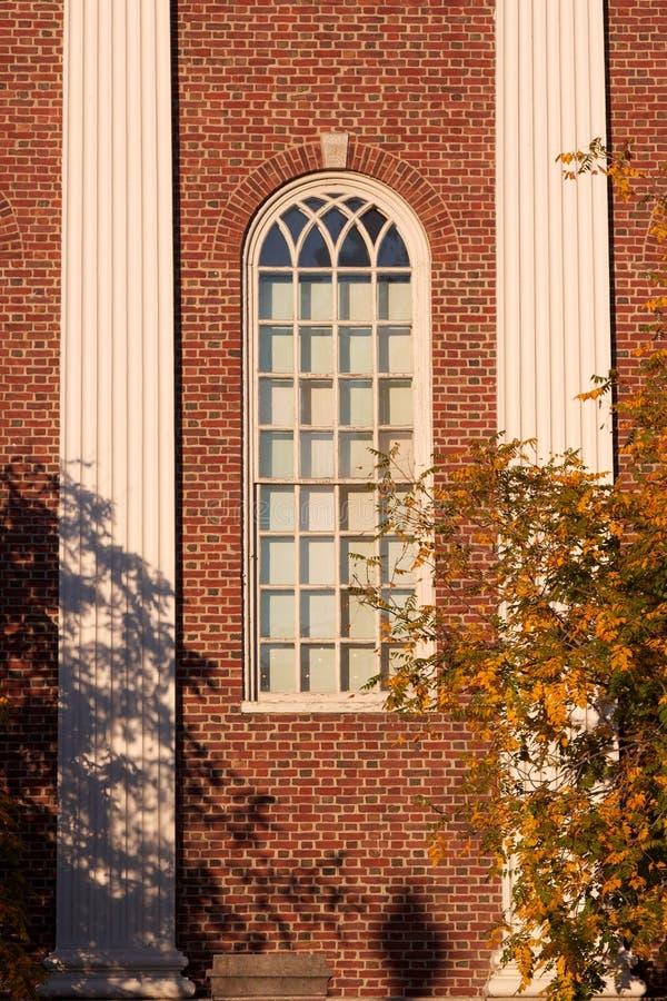W Spadek Harvard Okno Unversity obraz stock
