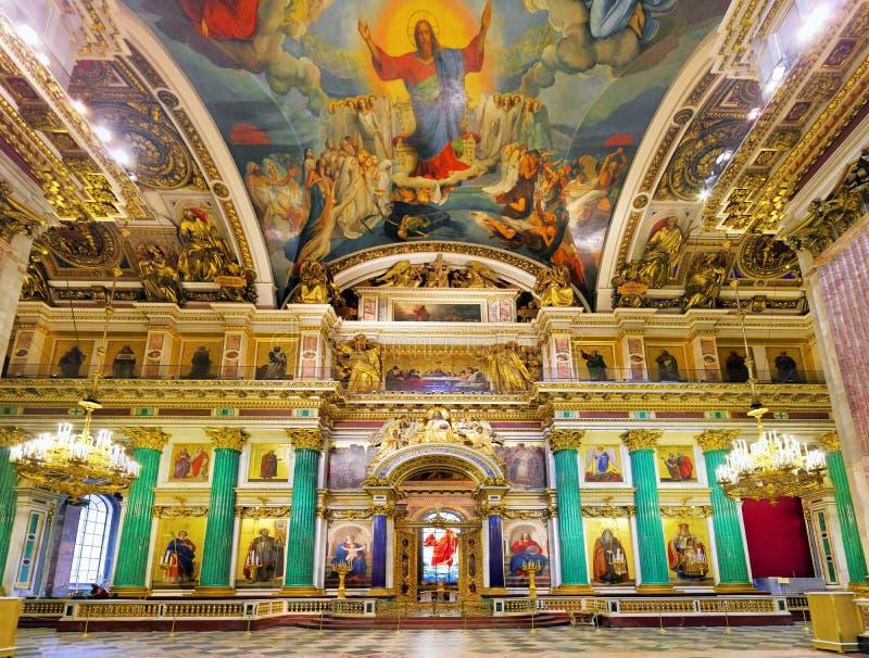 W St Isaacs świątobliwa Katedra Petersburg obraz royalty free