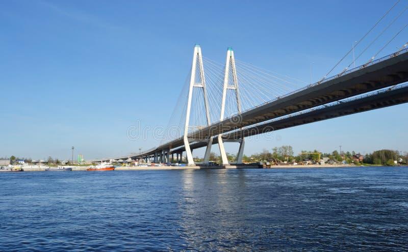 W st. związujący most Petersburg. obraz royalty free