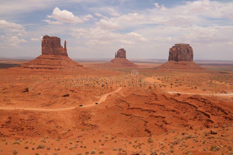 W?sten-Landschaft in Arizona, Monument-Tal Bunt, Tourismus lizenzfreie stockbilder