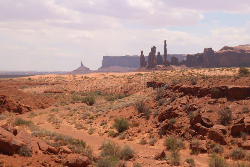 W?sten-Landschaft in Arizona, Monument-Tal Bunt, Tourismus stockbilder