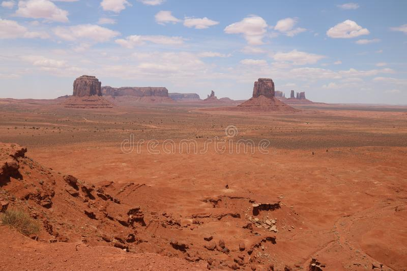 W?sten-Landschaft in Arizona, Monument-Tal Bunt, Tourismus lizenzfreies stockfoto