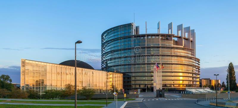 W Strasburg Parlament Europejski budynek obrazy stock