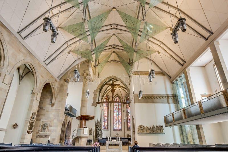 W Stuttgart uczelniany Kościół, Niemcy fotografia royalty free