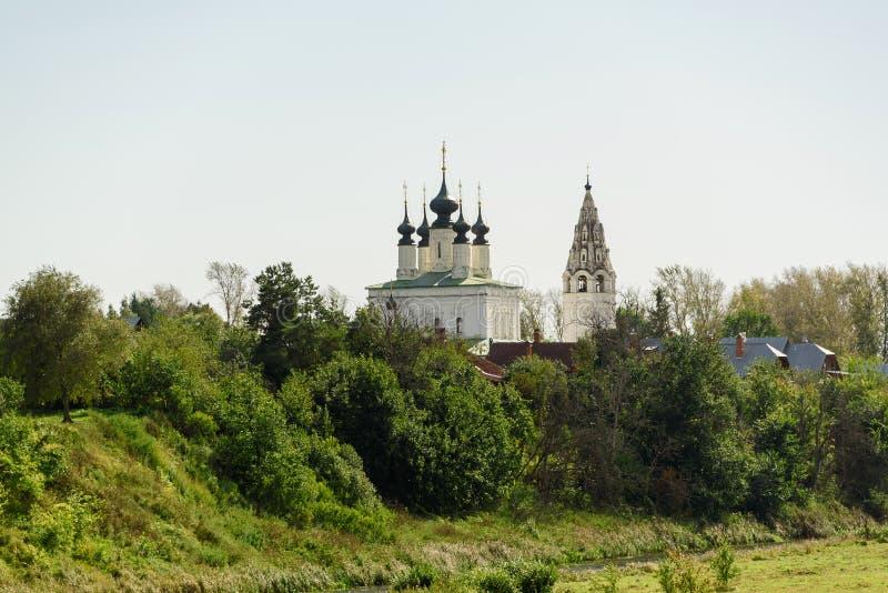 W Suzdal antyczny kościół Dziejowi przyciągania i architektura Rosja obraz royalty free