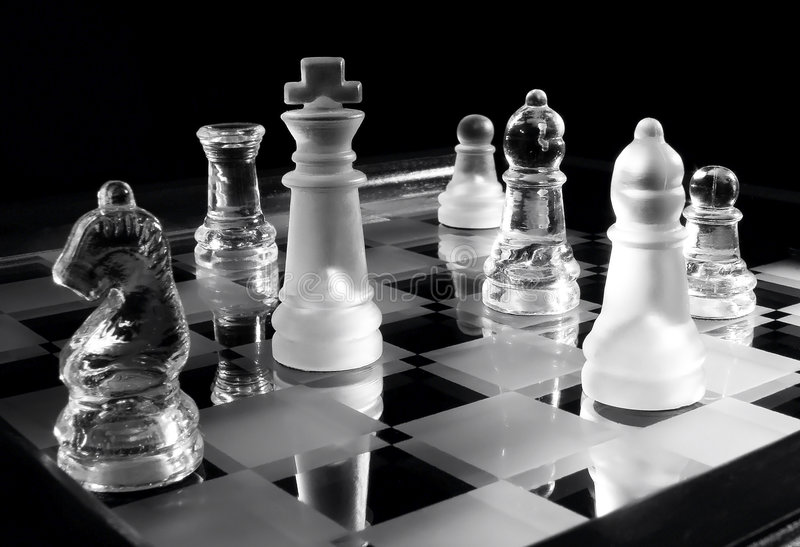 w szachy w b fotografia stock