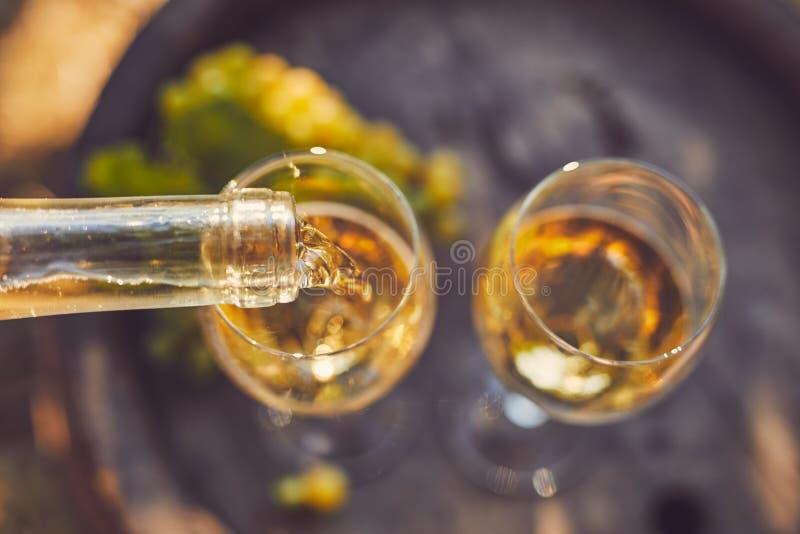 W szkła TARGET337_1_ biały wino obrazy royalty free