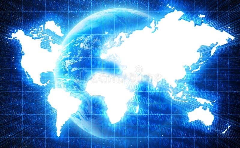 W technologia stylu światowa mapa ilustracji