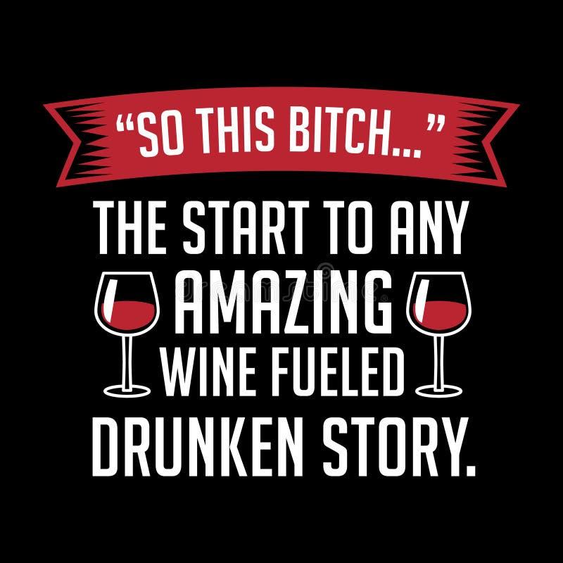 W ten sposób to początek jakaś zadziwiający wino tankujący ilustracji