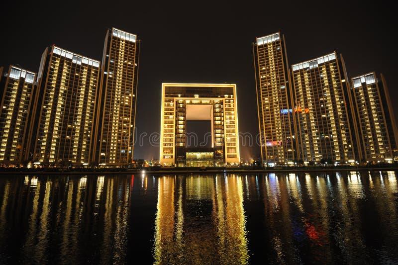 W Tianjin noc scena zdjęcie stock