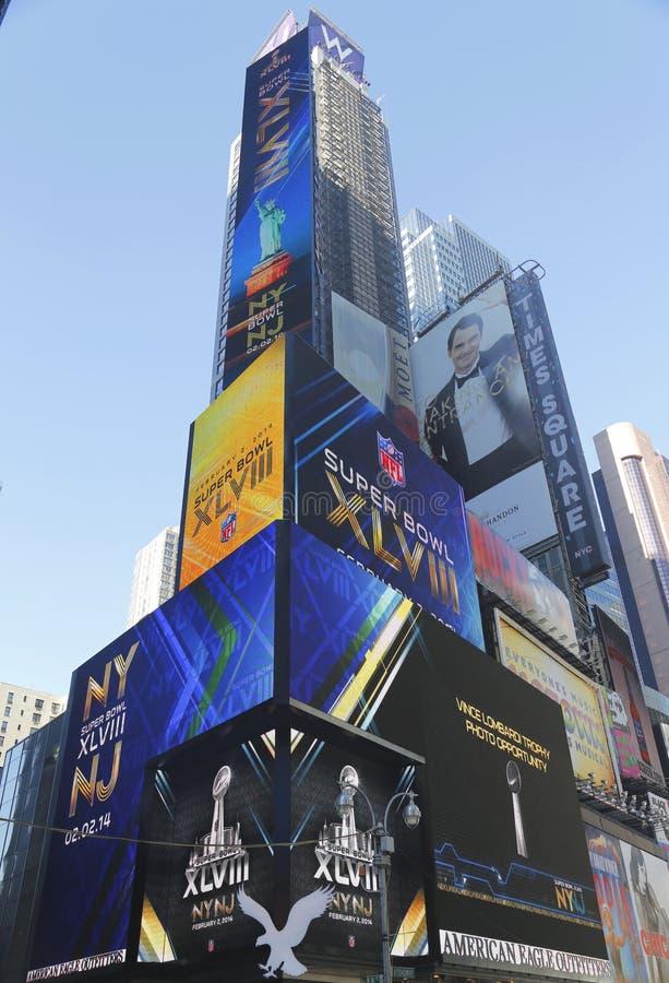 W-Times Square-Hotel während der Woche des Super Bowl XLVIII in Manhattan stockfoto