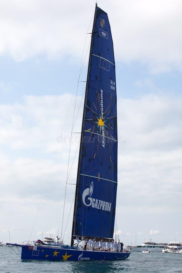 W Trieste Barcolana regatta zdjęcia royalty free