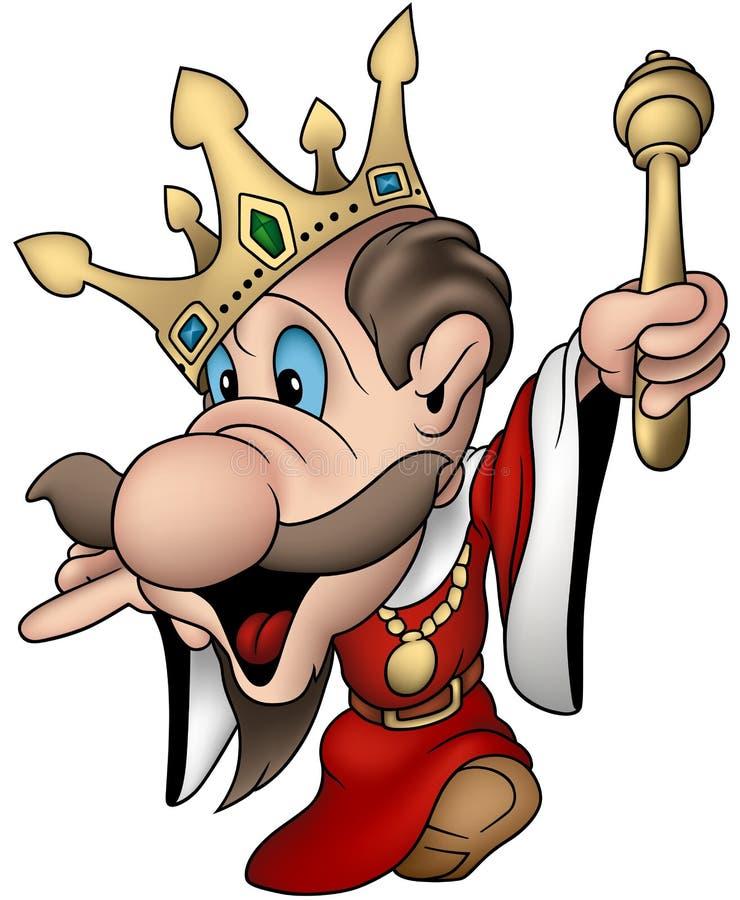 w trosce o wektor nieobecny króla. ilustracja wektor