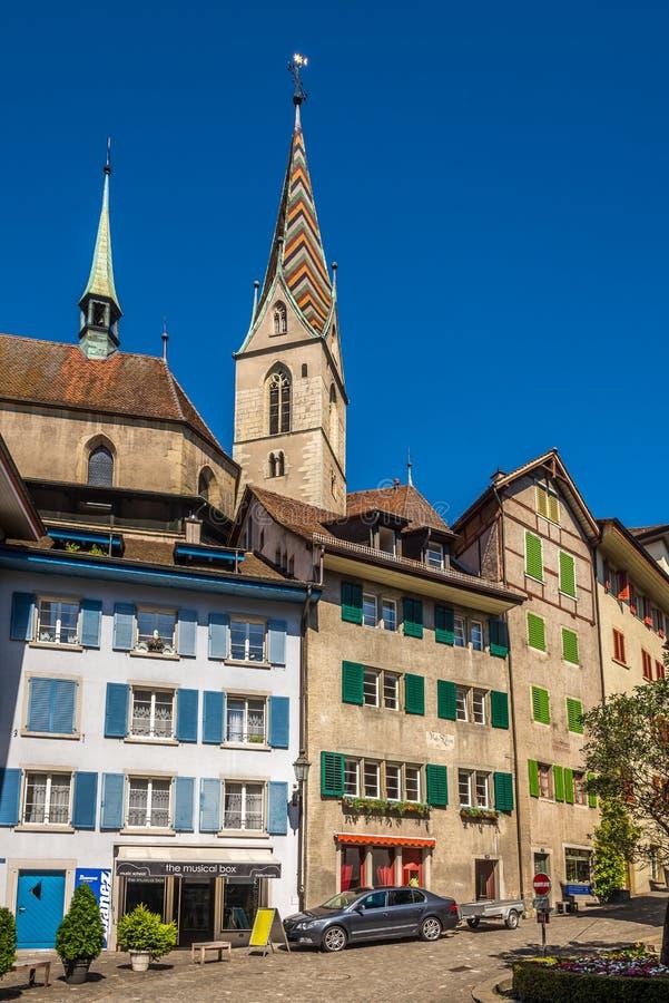 W ulicach Baden w Szwajcaria obraz royalty free