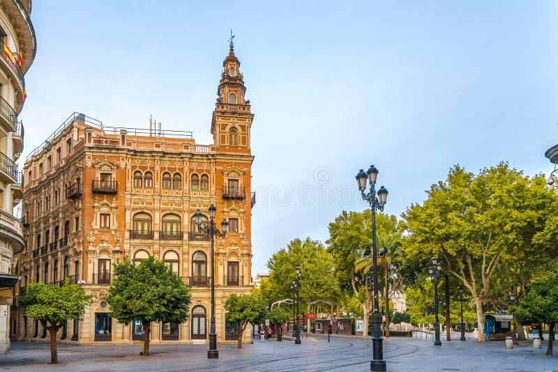 W ulicie Sevilla w Hiszpania obrazy royalty free