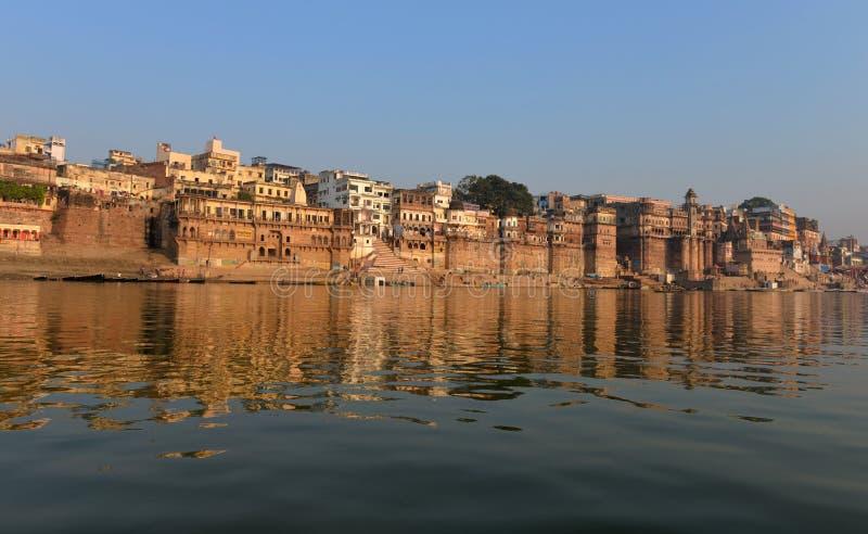 W Varanasi hinduski Ghats fotografia royalty free