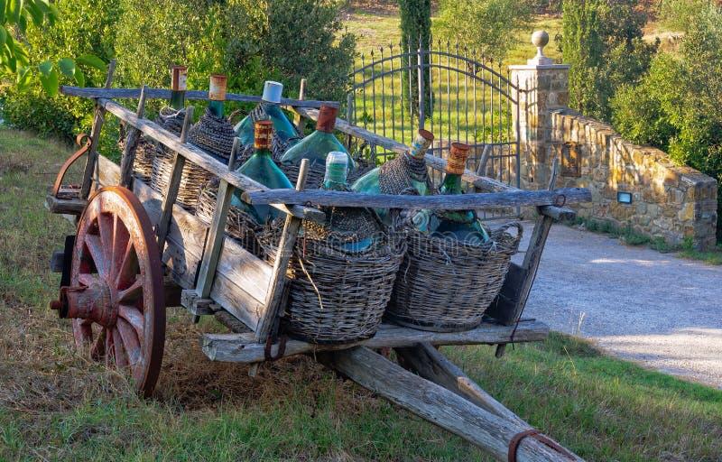 W vino veritas - Montalcino zdjęcie stock