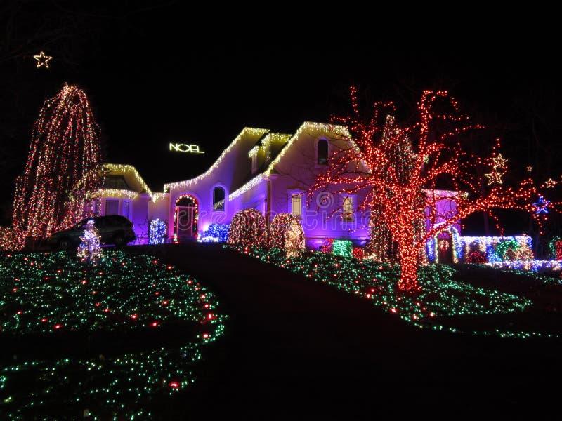 W Virginia ładny Bożenarodzeniowy Dom zdjęcie stock