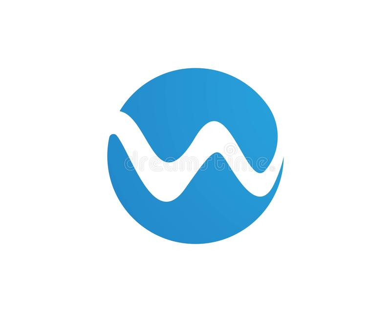 w wave logos and symbols vector stock vector illustration of icon