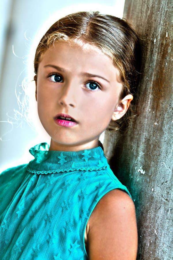W Wenecja urocza dziewczyna obraz stock