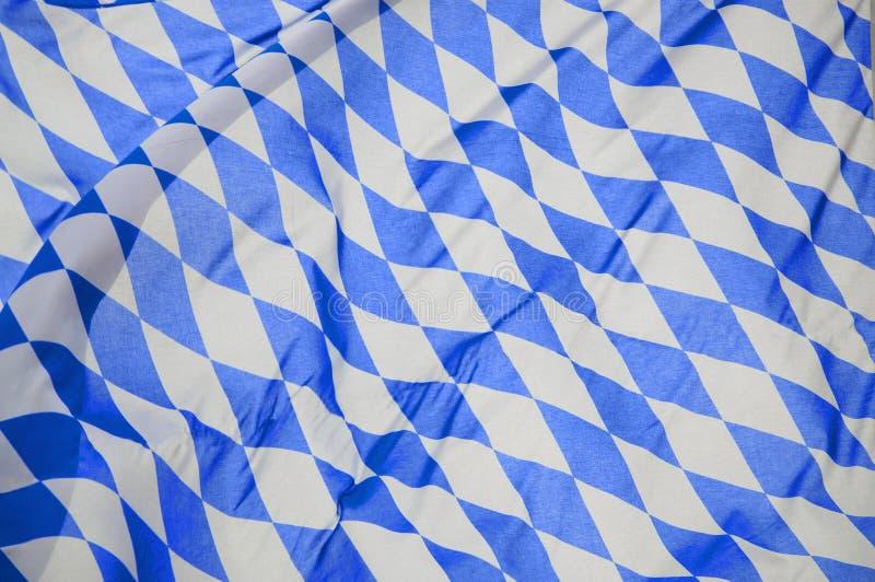 W Wiatrze Bavarian Flaga obrazy royalty free
