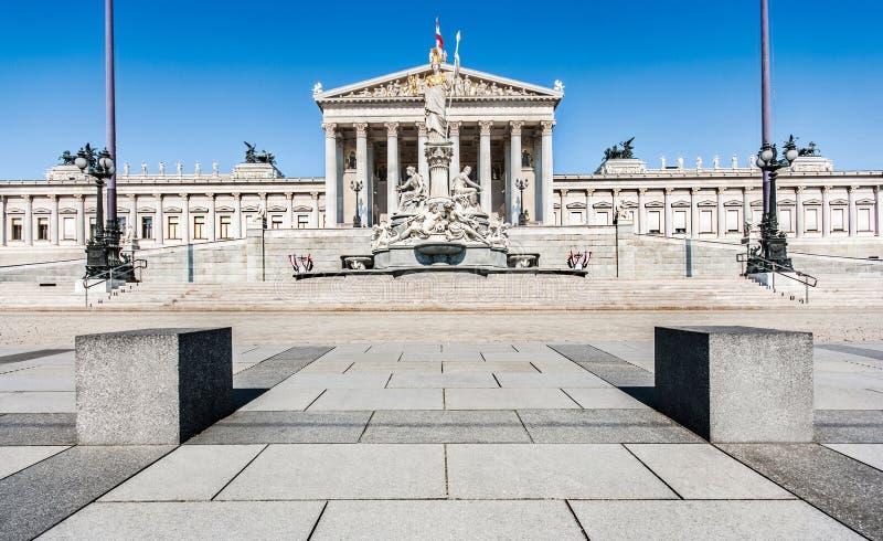 W Wiedeń austriacki Parlament, Austria obrazy royalty free