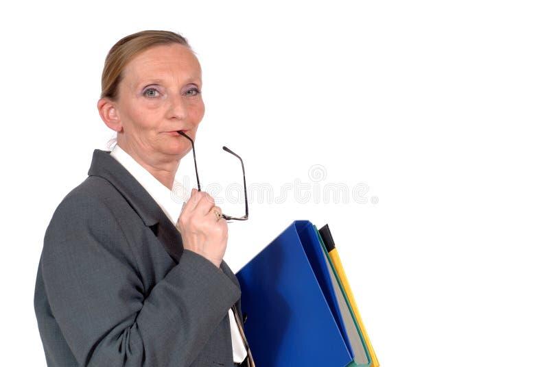 w wieku bizneswomanu pożywki obrazy stock