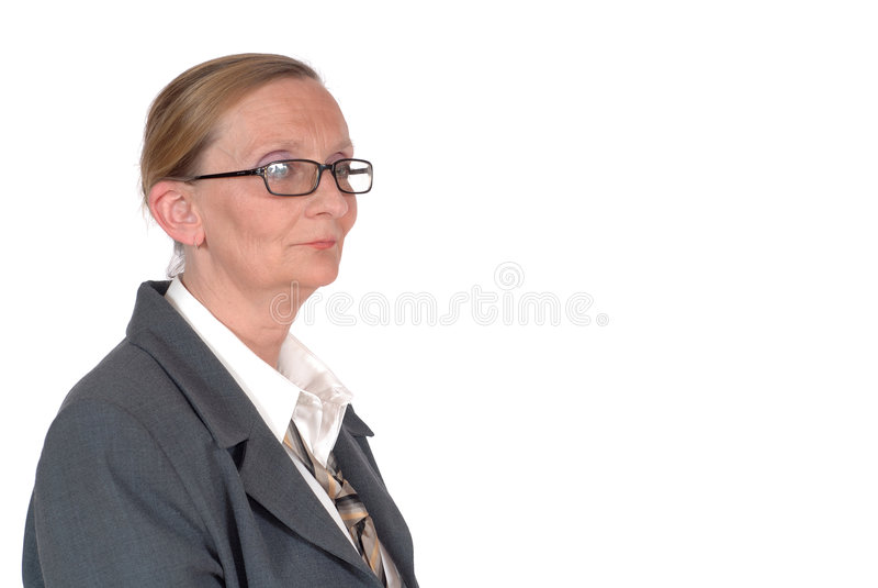 w wieku bizneswomanu pożywki zdjęcia stock