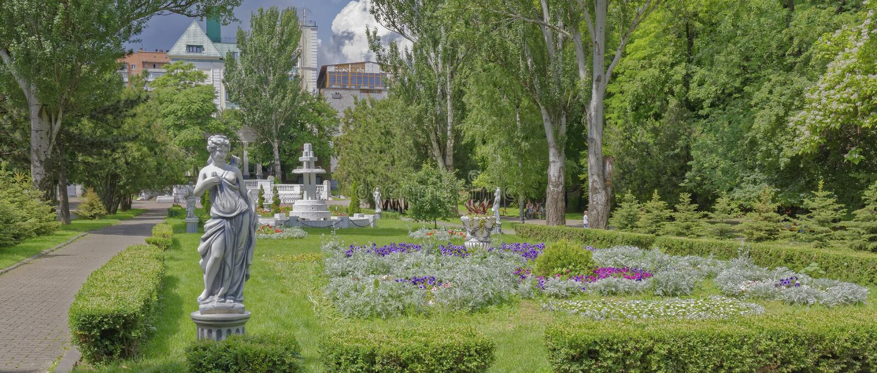 W wiosny Gorky parku, Don, Rosja obraz royalty free